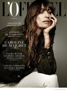 Caroline de Maigret graces the March 2015 cover of L'Officiel Mexico. The magazine celebrates its first anniversary issue.