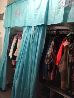Ole Miss Dorm Closet Curtains