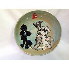 "Poodle 10"" Dog Bowl for Food or Water. Personalized at no Charge. Signed by Artist, Debby Carman. @ If you want to know more, click on the image. (This is an affiliate link and I receive a commission for the sales)"