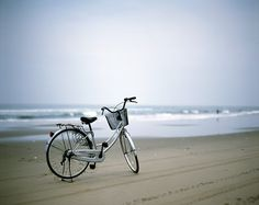 bicycle, beach