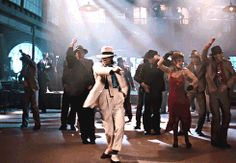 Michael Jackson in Smooth Criminal from Michael Jackson's Moonwalker (1988).
