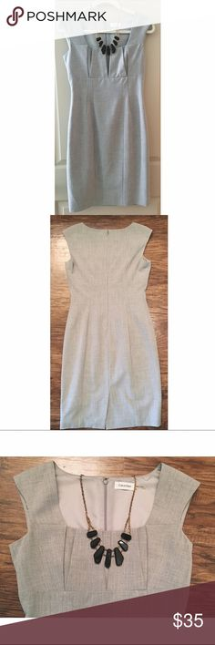 Reserved Bundle for Claire BUNDLE FOR CLAIRE * Calvin Klein Gray Cap Sleeve Shift Dress Size 4 (Excellent condition) & H&M Pink Skirt Size 6 (NWT) Calvin Klein Dresses