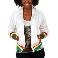 4840a080c1f Bob Marley Smile Jamaica white zip hoodie from www.bobmarleyshop.com Rasta  Dress