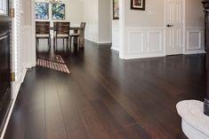 Wood Flooring This particular wide plank floor ideas is honestly an interesting design alternative. Dark Bamboo Flooring, Types Of Wood Flooring, Dark Wood Floors, Wood Laminate Flooring, Wide Plank Flooring, Engineered Hardwood Flooring, Flooring Ideas, Ash Flooring, Modern Wood Floors