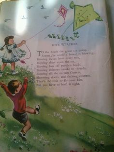 Childcraft Volume 2, Kite Weather, illustrated by Latham