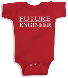 Looking for cute baby Bodysuit for your toddler? Future Engineer is a soft, comfy, and funny baby Bodysuit that can add more charm to your beautiful baby. The Bodysuit is made of 7.5 oz high quality,