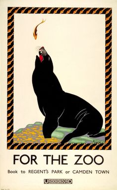 Vintage London Underground The Zoo Poster Wpa Posters, Art Deco Posters, Railway Posters, Times New Roman, Transport Pictures, Zoo Book, London Underground Tube, London Poster, Vintage London