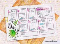Bujo, Bullet Journal, Inspiration, Idea, Ideen, Bullet Journal Layout, Planner, Weekly, Weeklyspread, Bujoweekly, Wochenübersicht, Woche Bullet Journal