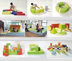 PLAY+ arredi per l'infanzia - forme complnibili