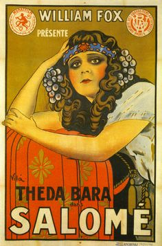 Theda Bara in Salome, 1923. #vintage #movies #posters #1920s