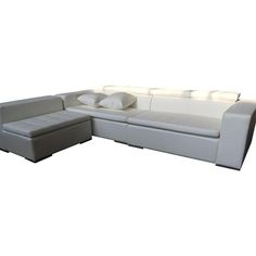 Image of White Monaco Sectional Sofa