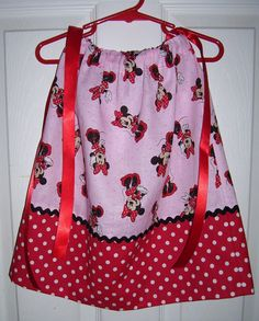 Minnie Mouse Pillowcase Dress by Vicky's Cute Creations on Etsy.com, $20.00