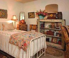 stile vintage decorazione idee-epoca camere a tema