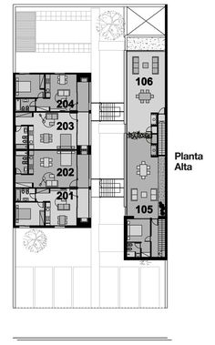 Complejo de viviendas Bora / Vanguarda Architects (planta alta)
