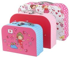J.I.P Suitcase Storage Set, Candy Girls contemporary-toy-storage