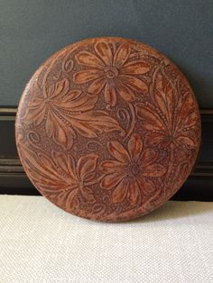 Vintage leather compact