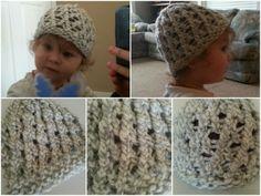 Loom Knit Lace Hat Pattern