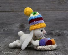 Needle felted Easter Bunny  White bunny  Easter   by NeighborKitty