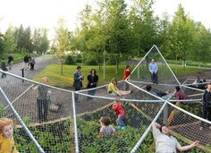 Dymaxion Sleeps, or a Natural Playground on two levels | Playscapes