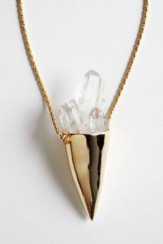 Covet: Pamela Love Quartz Crystal Spike Necklace