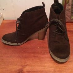 American Eagle brown suede booties AE booties - lace up - brown suede. Adorable ! Barely worn  American Eagle Outfitters Shoes Ankle Boots & Booties