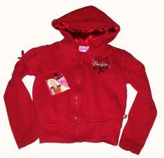 Mattel Barbie Red Hoodie Girls sz 6/6x Fall Back to School Kids Clothing $4.95