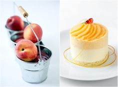 Peach Chamomille Mousse Cake