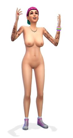 #xSIMS #TheSims4 :: Updated Nude Skins for use with the newest Sims 4 patch