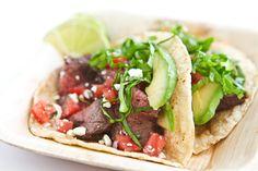 Skirt Steak Tacos | Steamy Kitchen Recipes