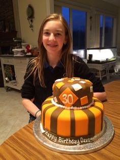 Cleveland Browns Party Ideas This Was My First Fondant Cake I Made It For Cousins 30th Birthday