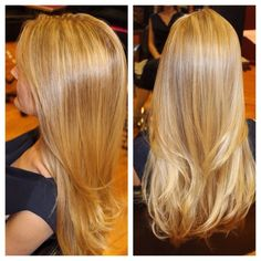 Naturally blended blonde highlights