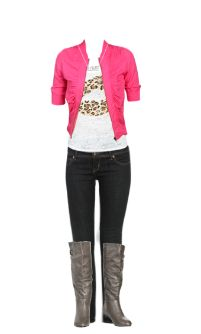 WetSeal.com Runway Outfit:  Pink Cheetah by JesuslovesU. Outfit Price $111.50