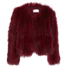 Saks Potts Carol racoon fur jacket ($935) ❤ liked on Polyvore featuring outerwear, jackets, coats, coats & jackets, fur, bordeaux, lightweight jackets, army jacket, light weight jacket and long sleeve jacket