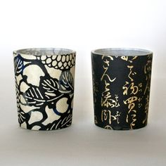 Featuring Japanese characters and a floral motif, this duo gives your home a Zen feel.