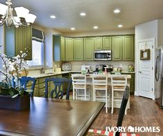 Awesome green cabinets in out Wanderwood model in Pleasant Grove! Are you bold enough to go GREEN?
