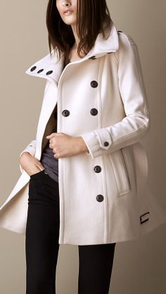 Wool Cashmere Blanket Wrap Coat | Burberry