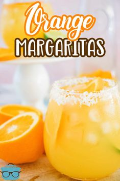 These Orange Margaritas are the perfect summertime adult beverage! So simple to make with just a few easy ingredients. Your new favorite warm weather cocktail! Easy Drink Recipes, Drinks Alcohol Recipes, Summer Recipes, Cooking Recipes, Refreshing Drinks, Fun Drinks, Alcoholic Beverages, Mixed Drinks, Cold Drinks
