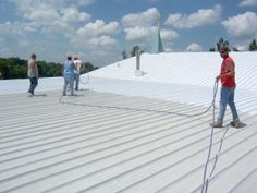 if you have a metal roof built up single ply Roofing Supplies, Roof Coating, Domain Hosting, Roofing Systems, Diy Home Improvement, Metal Roof, Beach Mat, Outdoor Blanket, Building
