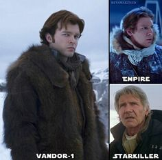 Oh really you're cold?<<< Ongoing saga of Han Solo being mad in the cold
