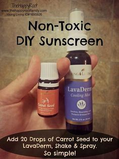 Young Living Essential Oils - Sunscreen. Made with Lavaderm & carrot seed oil. Cool!