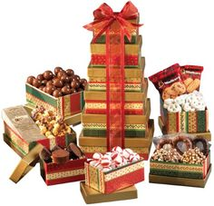 Gift Tower - A Holiday Gift Idea for Christmas - http://www.specialdaysgift.com/gift-tower-a-holiday-gift-idea-for-christmas/
