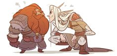 height n body type difference are my fave things about elves n dwarves that the lotr movies just didnt do justice for imo but with live action its hard to pull that stuff off they r secretly in love...