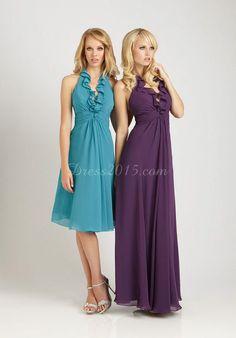 Unique Ruffles Halter Empire Chiffon Bridesmaid Dress   Market Price: $650.00 Our Price: $130.00