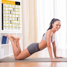 Amazon.com: Berat badan Latihan Poster - Total Body Workout - Personal Trainer…