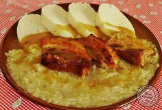 Šenkérska kapusta Slovak Recipes, Czech Recipes, Ethnic Recipes, Cabbage, Good Food, Food And Drink, Pork, Veggies, Menu