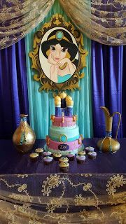 80 ideas de decoración para Fiesta de cumpleaños de la Princesa Jazmin Aladdin Birthday Party, Aladdin Party, 6th Birthday Parties, Birthday Party Decorations, Jasmin Party, Princess Jasmine Party, Disney Princess Party, Party Ballons, Balloons