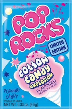 1x Pop Rocks Popping Candy - COTTON CANDY FLAVOUR American Candy Sweets 9.5g