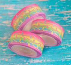 7/8 Spring Pastel Rainbow Ombre Doodle Swirls  by TrendyOwlSupply