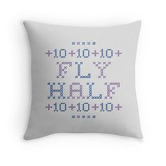 Cross Stitch - Fly Half 10 - Purple/Blue