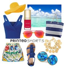 """""""Holiday by the Sea"""" by polkadottielove on Polyvore featuring Dolce&Gabbana, Miss Selfridge, Dorothy Perkins, Accessorize, Yves Saint Laurent, Chanel and printedshorts"""